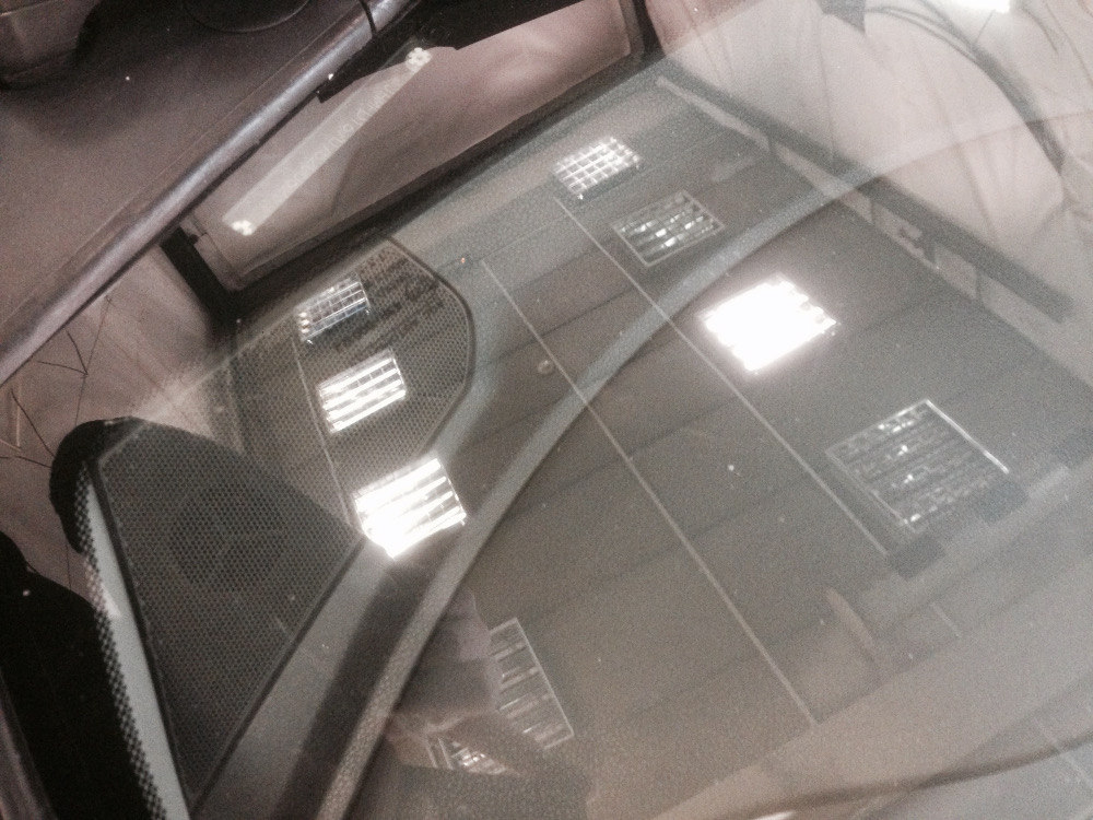 Трещина на лобовом стекле Honda Civic