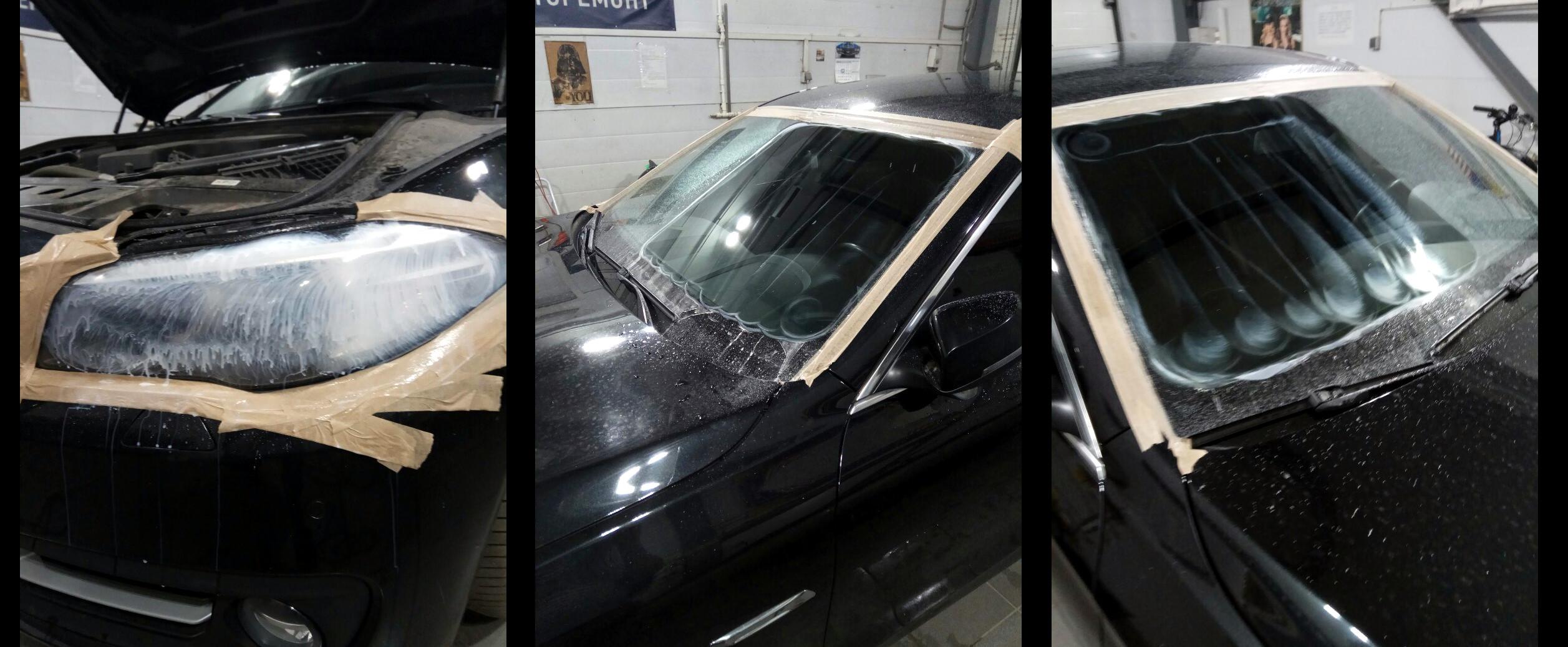 Полировка стекол автомобиля BMW