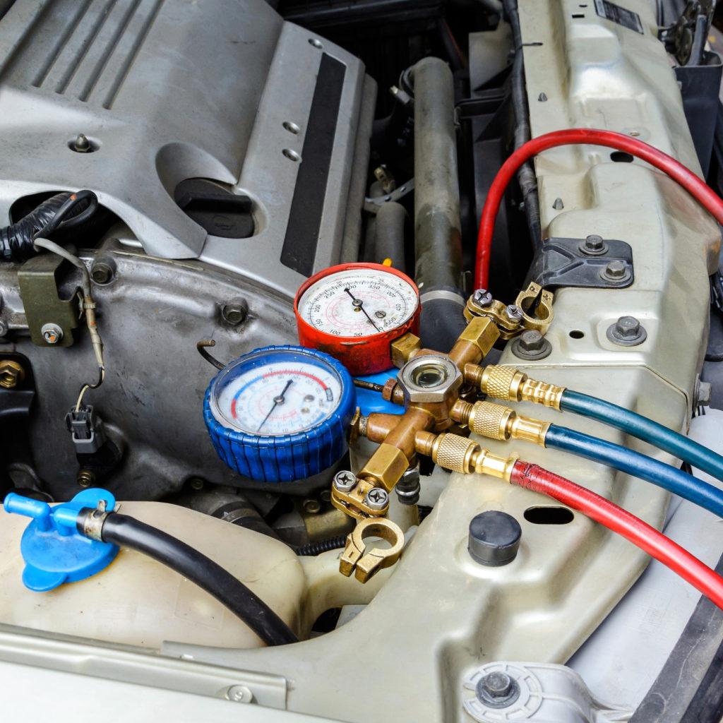 Заправка и ремонт системы кондиционирования авто