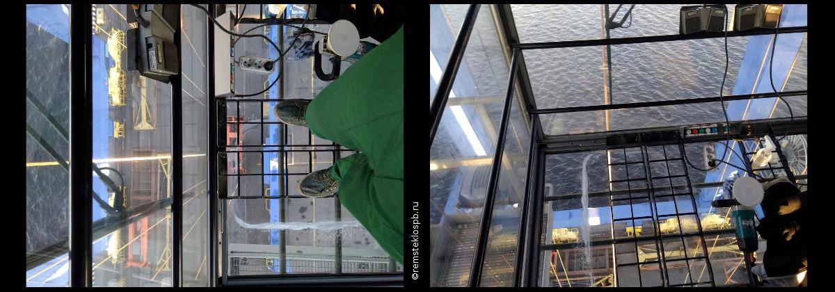 Ремонт сколов и трещин на лобовом стекле в СПб