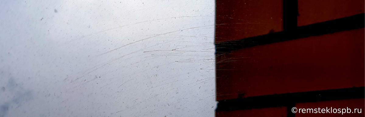 Полировка оконного стекла от царапин