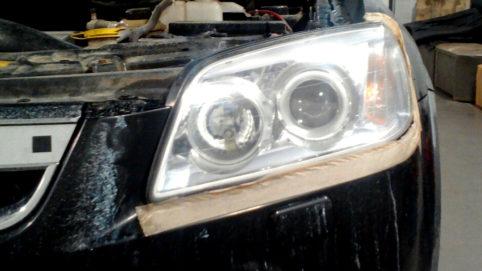 Полировка фар Chevrolet Captiva