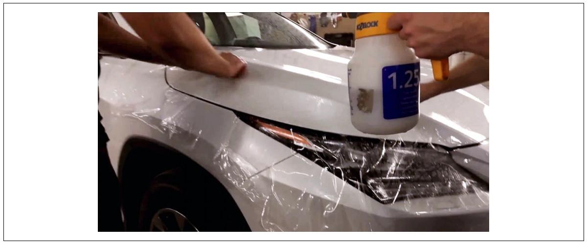 Мыльный раствор для бронирования кузова