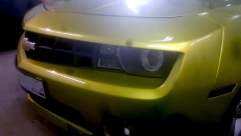Шлифовка боковых стекол Chevrolet Camaro