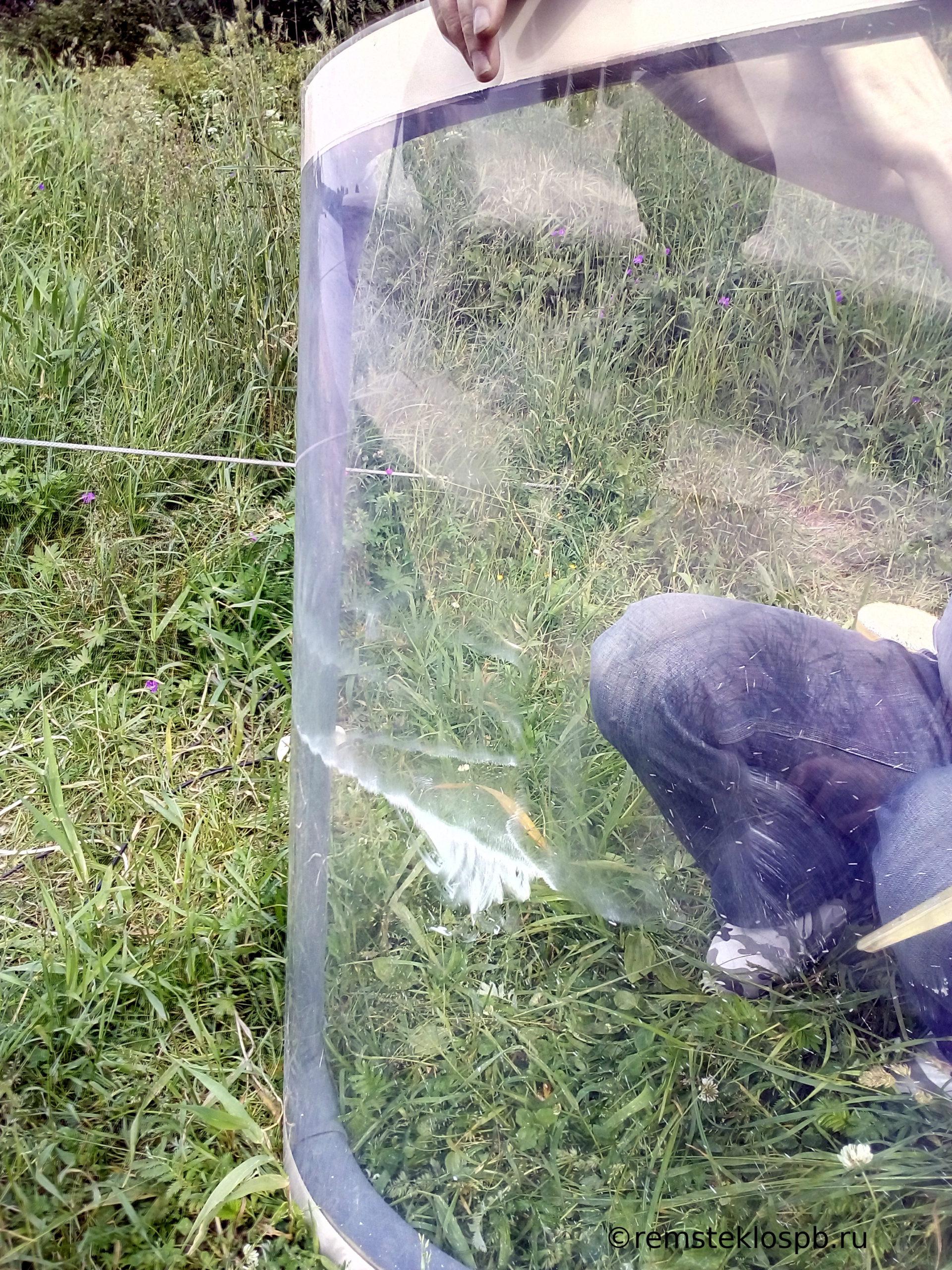 Полировка пластикового иллюминатора на гидроплане