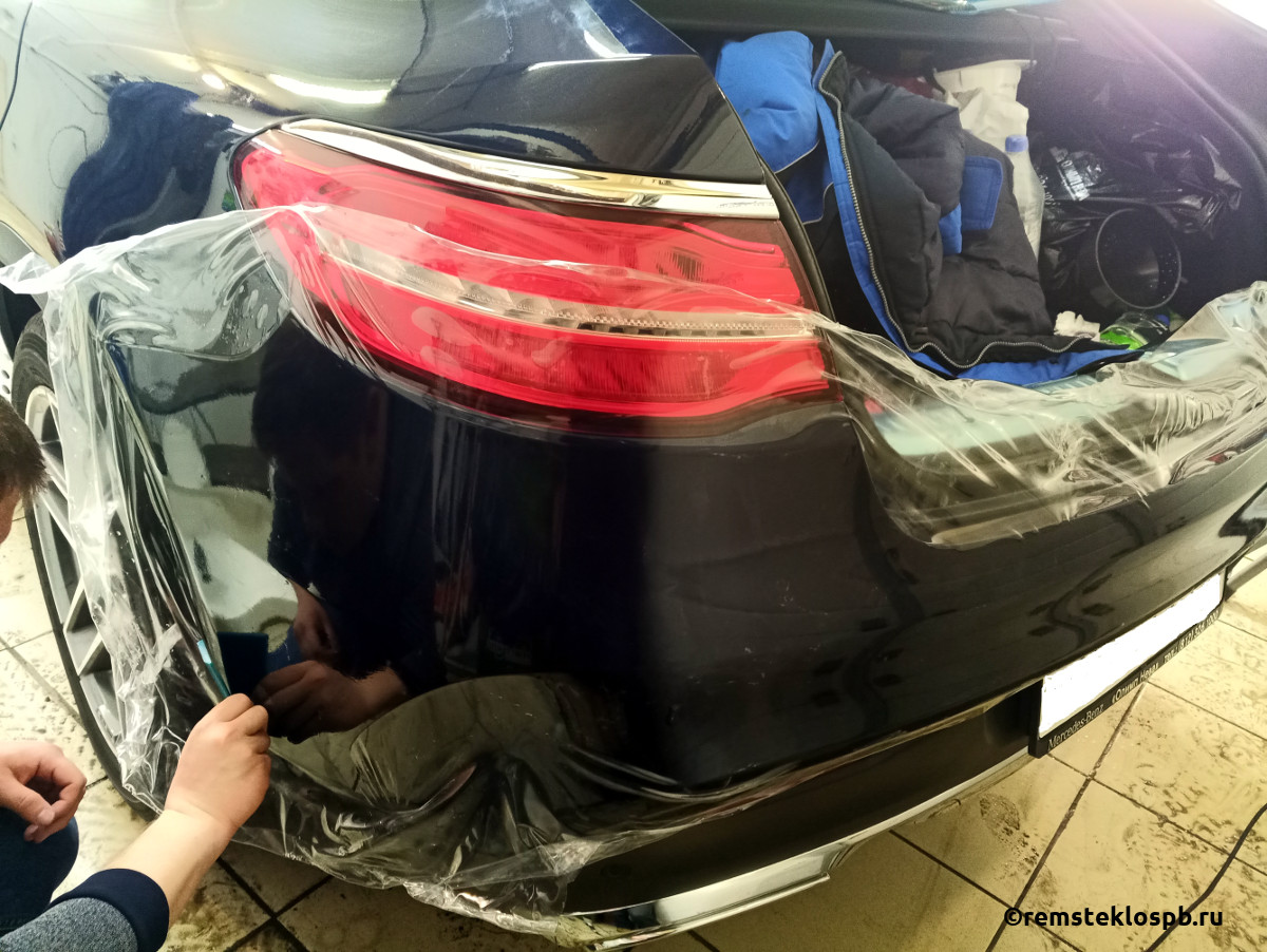 Бронирование полиуретановой пленкой  Mercedes