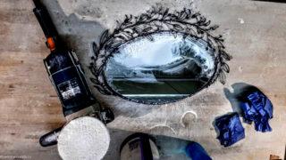 Полировка зеркала ручной работы