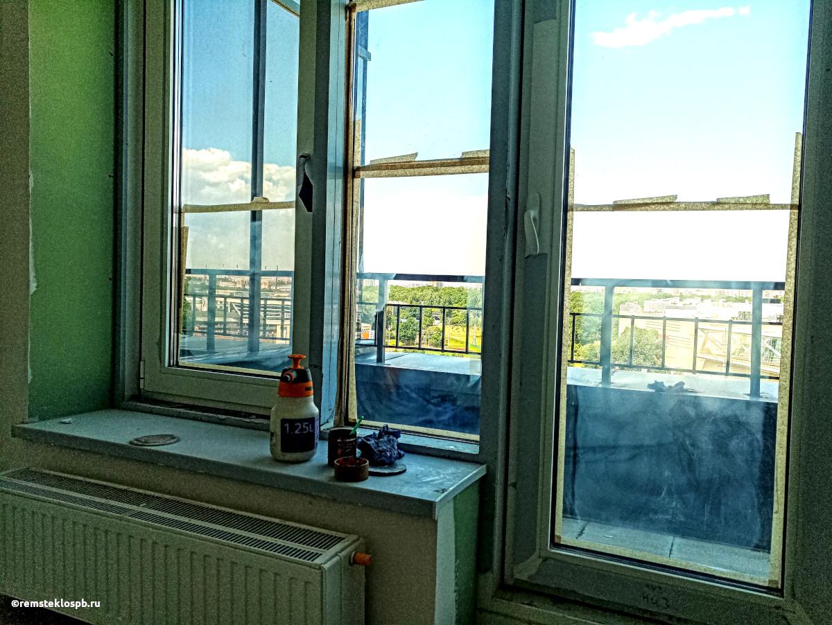 Полировка стеклопакетов в ЖК «G9» на Грибалевой