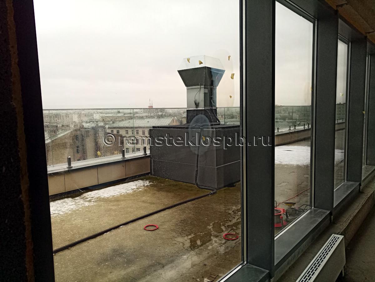 Полировка стекла в апарт-отеле YES