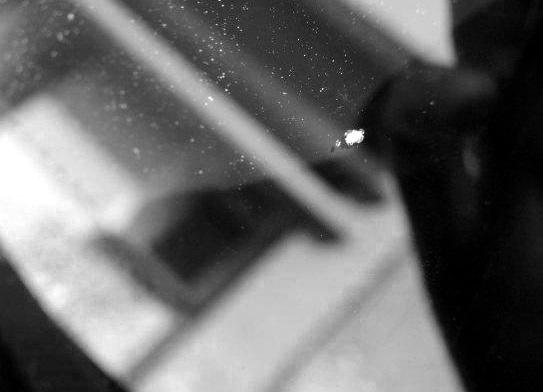 Щербинка на лобовом стекле