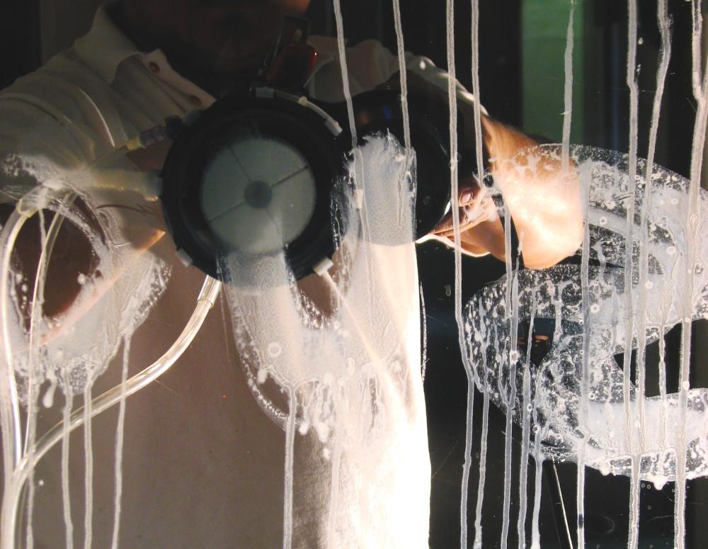 Устранение царапин остекления стеклопакетов